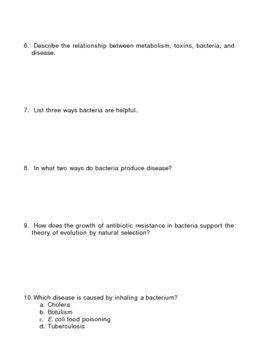 Bacteria Homework Assignment