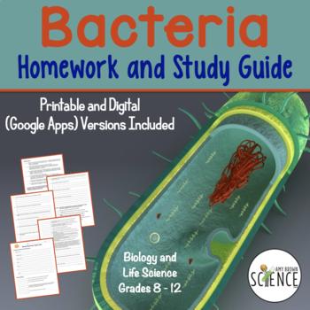 Bacteria and Prokaryotes Homework and Study Guide