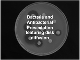 Bacteria and Antibacterial Presentation featuring disk diffusion
