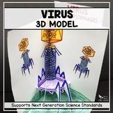 Virus Model  - 3D (Bacteriophage)