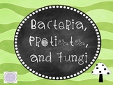 Bacteria, Protists, and Fungi Packet