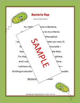 BACTERIA RAP - Concise, Clear Science Vocabulary & Concepts - Fun with Facts!