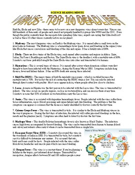 Bacteria and Virus Top 10 (2 Reading Minute Articles)