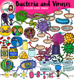 Bacteria and Viruses clip art. 100 items!!