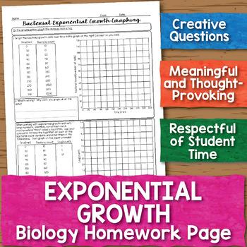Bacterial Exponential Growth Biology Homework Worksheet