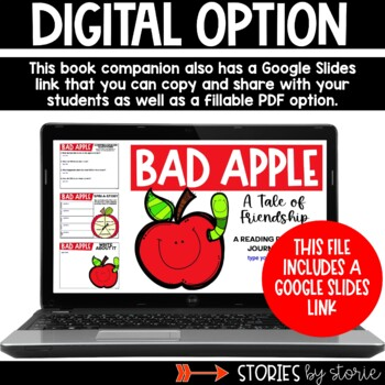 Bad Apple (Book Questions, Vocabulary, & Apple Craft)