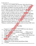 Bad Behavior Or Unacceptable/Poor School Work Letter Home to Parents