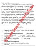 Bad Behavior Or Unacceptable/Poor School Work Letter Home