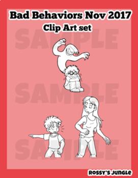 Bad Behaviors Nov 2017 Clip Art Set