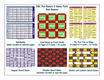 Bad Bosses 6 Board Game Bundle