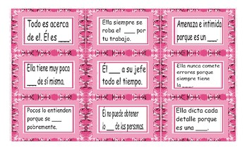 Bad Bosses are Bad Business Spanish Card Game