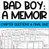 Bad Boy A Memoir Chapter Qs Review & comprehensive test exam quiz