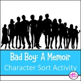 Bad Boy A Memoir Character Sort Activity Puzzle