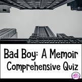 Bad Boy by Walter Dean Myers comprehensive test exam quiz