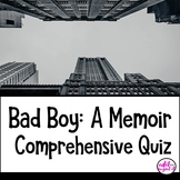 Bad Boy by Walter Dean Myers comprehensive test exam quiz