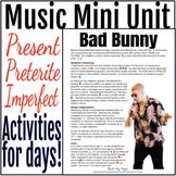 Bad Bunny Spanish Music Mini Unit - Preterite Imperfect Reading and Activities