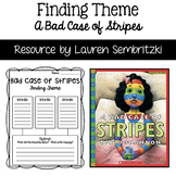 Bad Case of Stripes Finding Theme Graphic Organizer and Posters