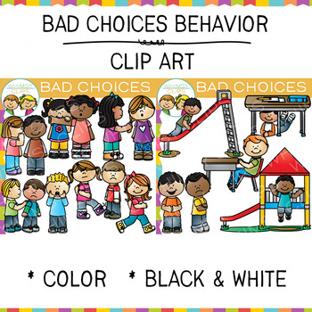 bad choices behavior clip art by whimsy clips teachers