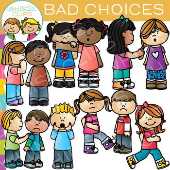 Bad Choices Behavior Clip Art by Whimsy Clips | Teachers ...