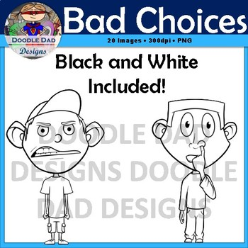 Bad Choices Clip Art (Behavior, Negative, Rules, counseling)
