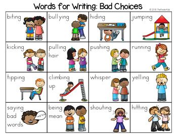 Bad Choices Word List - Writing Center