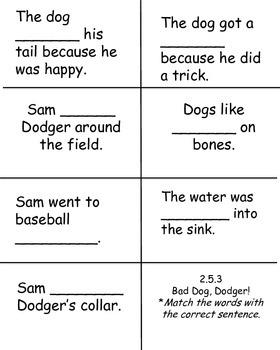Bad Dog, Dodger!  Reading Street