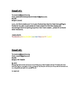 Bad Emails Assignment