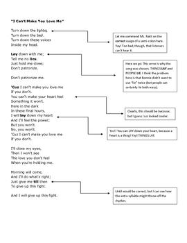 Bad Grammar in Songs_Lie vs. Lay