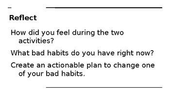 Help your students correct Bad Habits!
