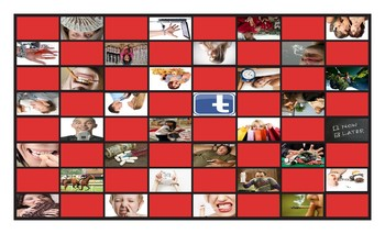 Bad Habits and Addictions Legal Size Photo Checkerboard Game