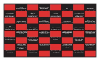 Bad Habits and Addictions Spanish Checker Board Game