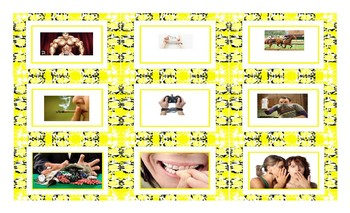 Bad Habits and Addictions Spanish Legal Size Photo Card Game