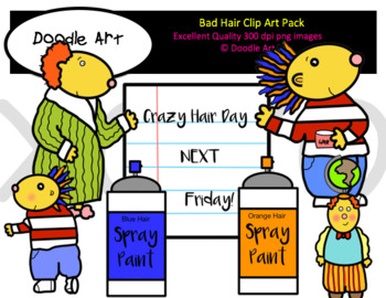 Bad Hair Clip Art Pack