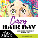 Crazy Hair Day | Simple DISTANCE LEARNING or In Class Art Lesson