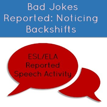 Bad Jokes Reported: Noticing and Reviewing Reported Speech