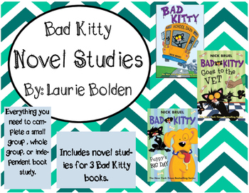 Bad Kitty Book Studies, 3 books included!