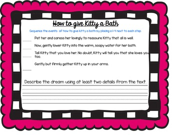 Bad Kitty Gets a Bath *CC aligned* Comprehension Novel Study