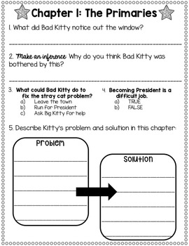 Bad Kitty for President Reading Comprehension Unit!