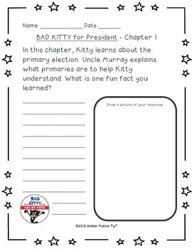 Bad Kitty for President Literature Guide (Common Core)