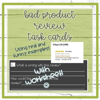 Bad Product Review Task Cards {Real World Writing}