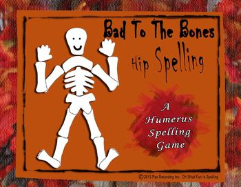 Spelling Halloween Autumn Game **Bad To The Bones ** Hip Spelling **