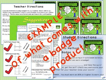 Science Process Skills with self-check Quizzes: Badge bundle
