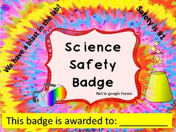 Badge Lab Safety & Quiz (not a google form)