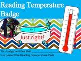 Badge Reading Temperature - includes Quiz