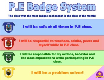 Badge System Poster