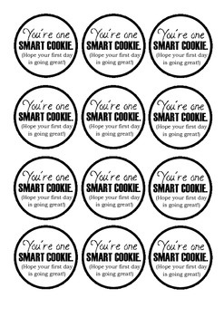 photograph regarding You're One Smart Cookie Printable identify Youre A person Sensible Cookie Worksheets Education Supplies TpT