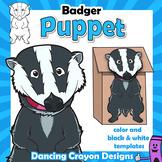 Badger Craft Activity   Paper Bag Puppet Template