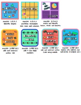 Badges: 2nd Grade Common Core Math