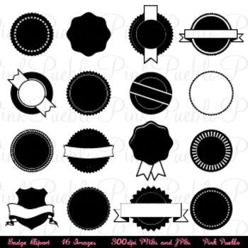 Badges Clipart, Use as Stickers, Tags and Labels - Commercial and Personal Use
