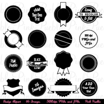Badges Clipart, Use as Stickers, Tags and Labels - Commerc